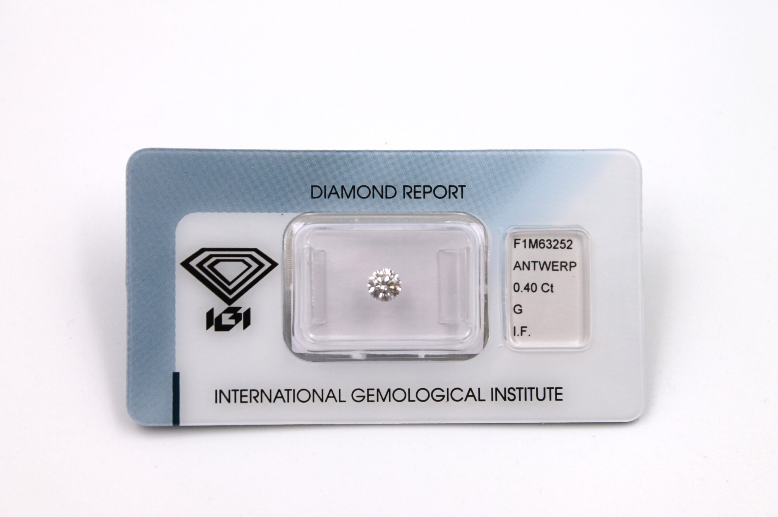 Diamante Certificato IGI Kt. 0.40 G IF