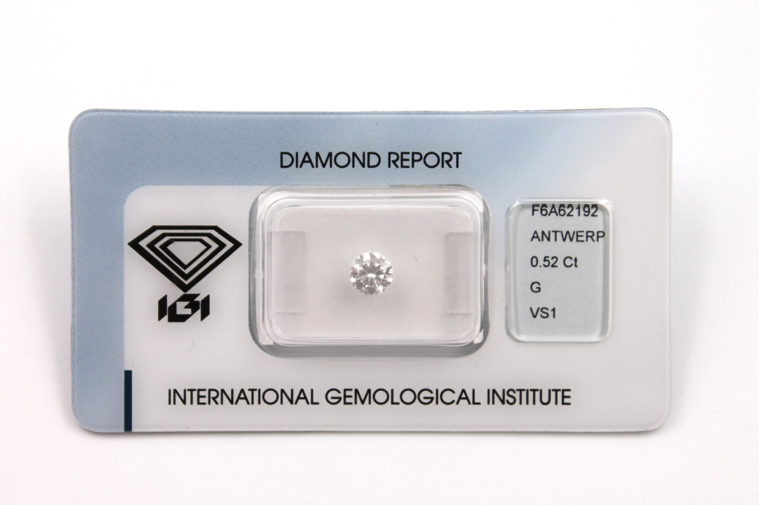 Diamante Certificato IGI Kt. 0.52 G VS1
