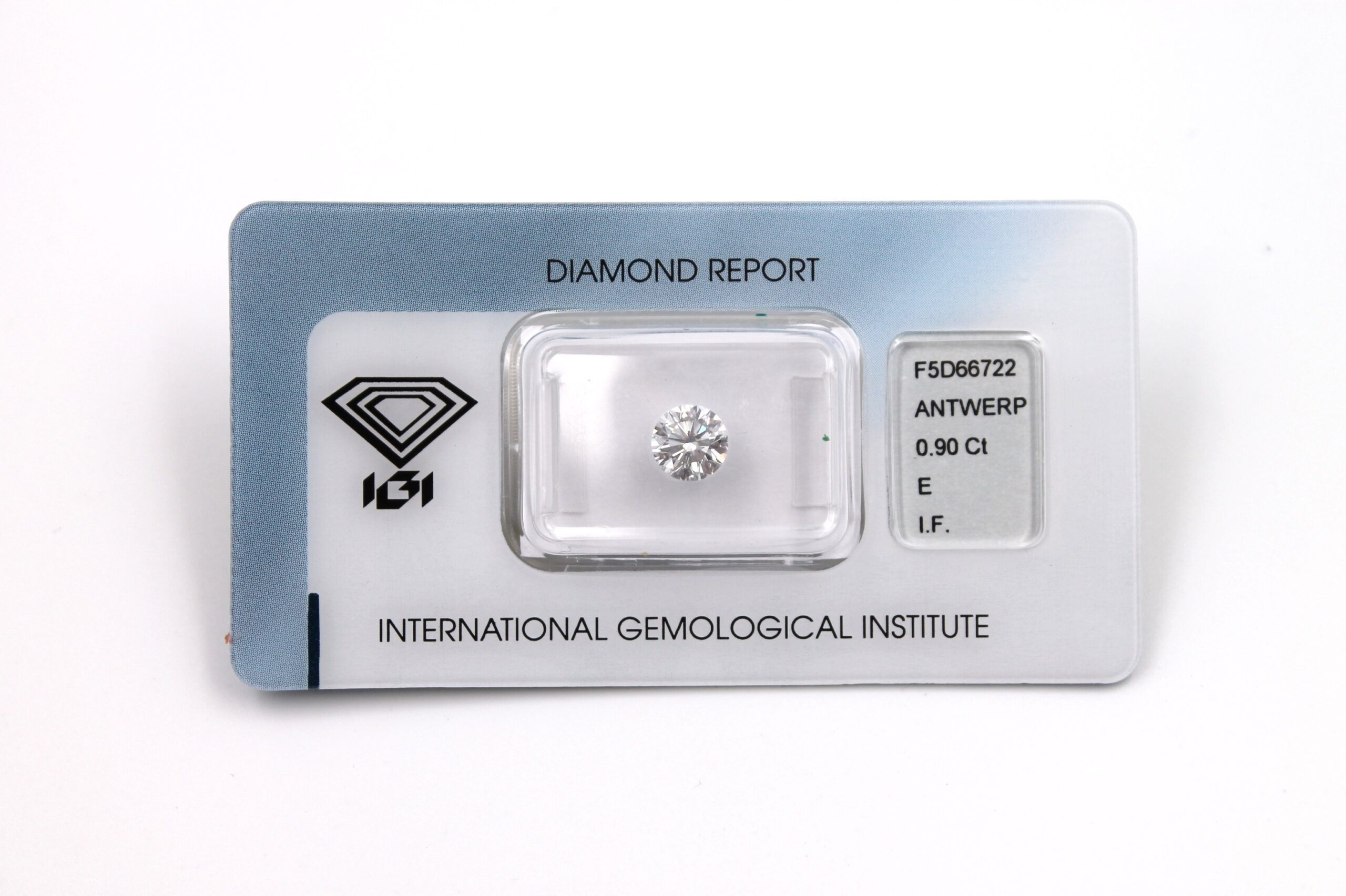 Diamante Certificato IGI Kt. 0.90 E IF